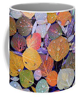 Collage Of Aspen Leaves At Mcgee Creek In The Eastern Sierras Coffee Mug