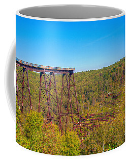 Collapsed Kinzua Railroad Bridge Coffee Mug by Randy Steele