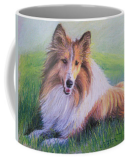 Collie Coffee Mug by Dave Luebbert