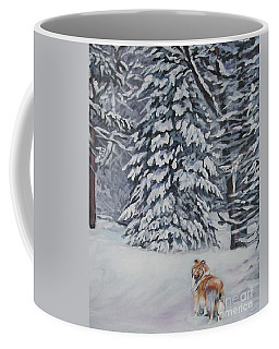Collie Sable Christmas Tree Coffee Mug