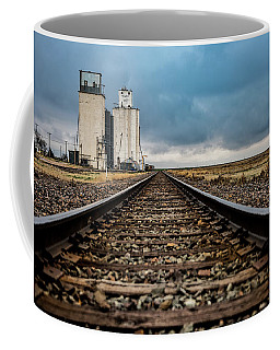 Coffee Mug featuring the photograph Collyer Tracks by Darren White