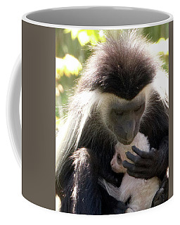 Colobus Monkey And Child Coffee Mug