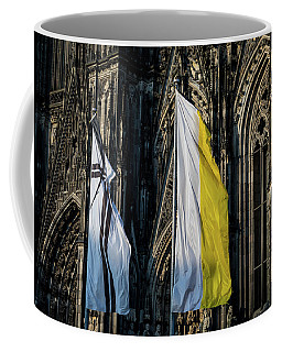 Cologne Cathedral Flags Coffee Mug