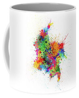 Colombia Paint Splashes Map Coffee Mug