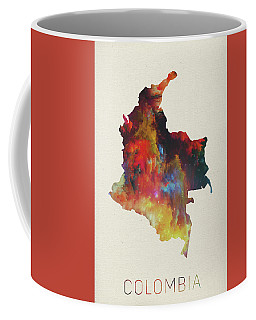 Colombia Watercolor Map Coffee Mug