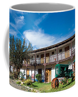 Colonial Building And Old Tractor Coffee Mug