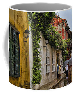 Colonial Buildings In Old Cartagena Colombia Coffee Mug
