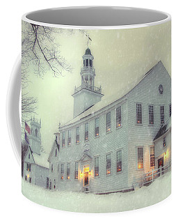Colonial Winter Scene - Washington, Nh Coffee Mug by Joann Vitali