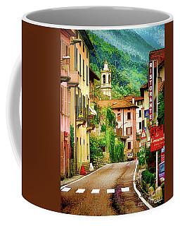 Coffee Mug featuring the digital art Colonno.lake Como by Jennie Breeze