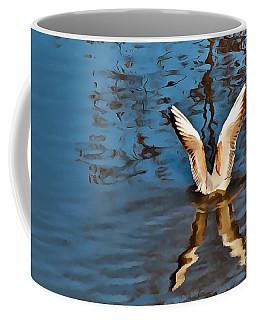 Color Abstract Gull Wings Coffee Mug