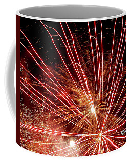 Coffee Mug featuring the photograph Color Blast Fireworks #0731 by Barbara Tristan
