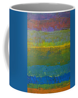 Coffee Mug featuring the painting Color Collage Five by Michelle Calkins
