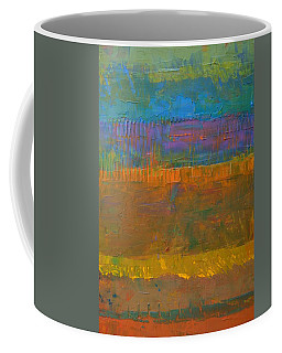 Coffee Mug featuring the painting Color Collage One by Michelle Calkins
