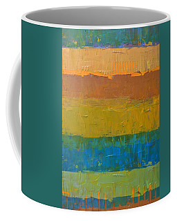 Coffee Mug featuring the painting Color Collage Three by Michelle Calkins