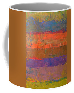 Coffee Mug featuring the painting Color Collage Two by Michelle Calkins
