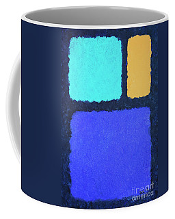 Coffee Mug featuring the painting Color Fields by Jutta Maria Pusl
