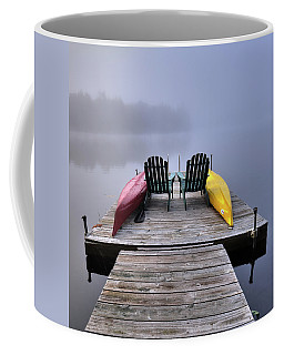 Coffee Mug featuring the photograph Color In The Fog by David Patterson