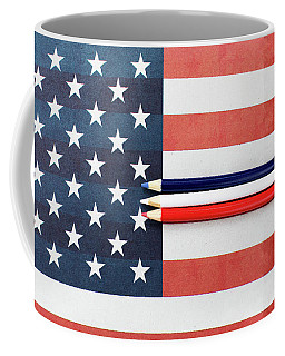 Coffee Mug featuring the photograph Color Me Red White And Blue by Rebecca Cozart
