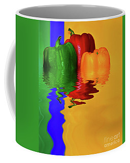 Coffee Mug featuring the photograph Color Pop Peppers By Kaye Menner by Kaye Menner