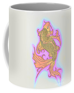 Coffee Mug featuring the drawing Color Sketch Koi Fish by Justin Moore