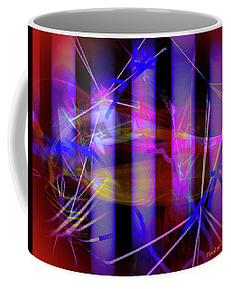 Coffee Mug featuring the digital art Color Tubes by Visual Artist Frank Bonilla