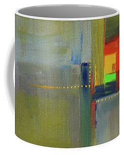 Coffee Mug featuring the painting Color Window Abstract by Nancy Merkle