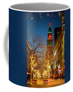 Colorado Christmas In Denver Coffee Mug by Teri Virbickis