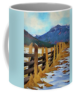 Colorado Fence Line  Coffee Mug by Jeff Kolker