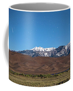 Colorado Great Sand Dunes With Falling Star Coffee Mug by James BO Insogna