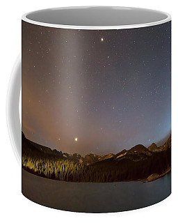 Coffee Mug featuring the photograph Colorado Indian Peaks Stellar Night by James BO Insogna