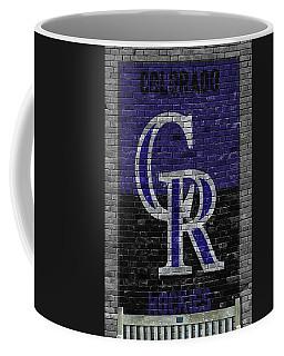 Colorado Rockies Brick Wall Coffee Mug