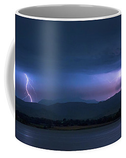 Coffee Mug featuring the photograph Colorado Rocky Mountain Foothills Storm by James BO Insogna