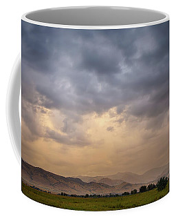 Coffee Mug featuring the photograph Colorado Rocky Mountain Foothills Storms by James BO Insogna
