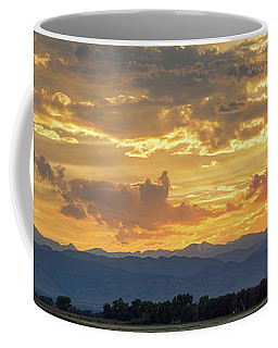 Coffee Mug featuring the photograph Colorado Rocky Mountain Front Range Panorama Sunset by James BO Insogna