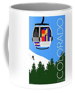 Colorado Ski Country Blue Coffee Mug