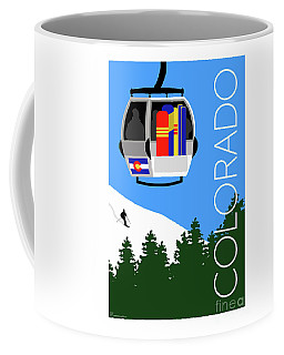 Colorado Ski Country Blue Coffee Mug