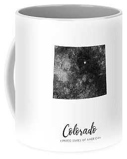 Colorado State Map Art - Grunge Silhouette Coffee Mug