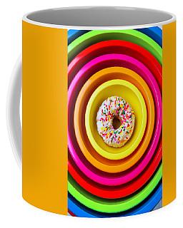 Colored Bowls And Donut Coffee Mug