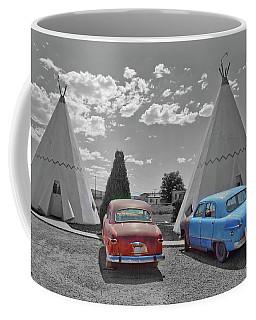 Colored Cars And Tee Pee Motel--holbrook Coffee Mug