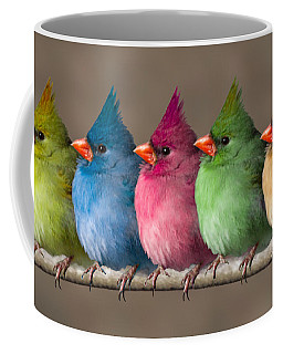 Colored Chicks Coffee Mug by John Haldane