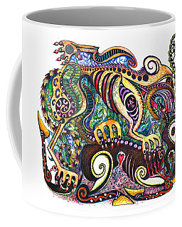 Colored Cultural Zoo D Version 2 Coffee Mug by Melinda Dare Benfield