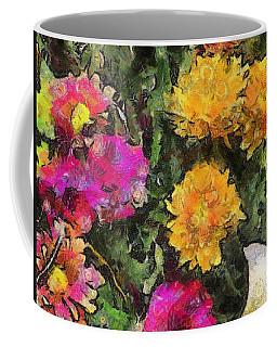Colored Flowers Coffee Mug