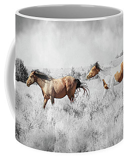 Coffee Mug featuring the photograph Colored Horses by Steve McKinzie