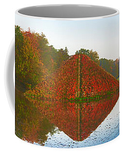 Colored Lake Pyramid Coffee Mug