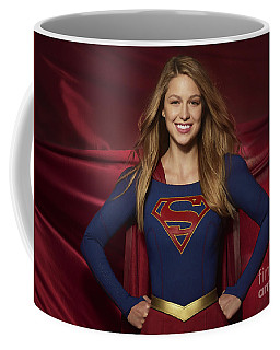 Colored Pencil Study Of Supergirl - Melissa Benoist Coffee Mug