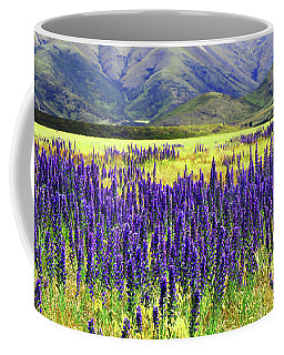 Coffee Mug featuring the photograph Colorfield Of Viper's Buglosss by Nareeta Martin