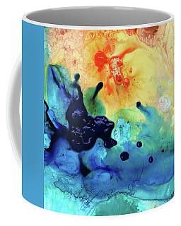 Colorful Abstract Art - Blue Waters - Sharon Cummings Coffee Mug