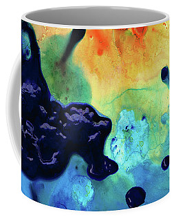 Coffee Mug featuring the painting Colorful Abstract Art - Blue Waters - Sharon Cummings by Sharon Cummings