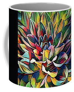 Colorful Abstract Dahlia Coffee Mug