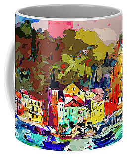 Colorful Abstract Italy Portofino Impression Coffee Mug